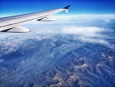 View from a plane of the western side of the Unites States of America Stock Photo - 21022931