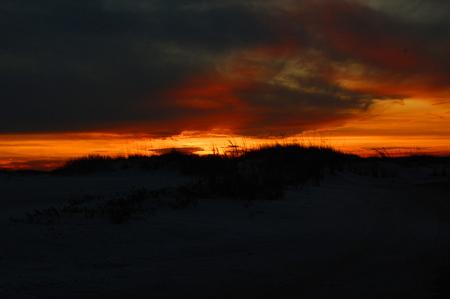 Florida, Fort Pickens, Pensacola, sea grass, sea oats, Sunset, orange sunset, beach, sand, sand dunes