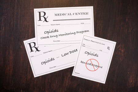 Opioid prescriptions warning of dosage, monitoring usage and contraindications