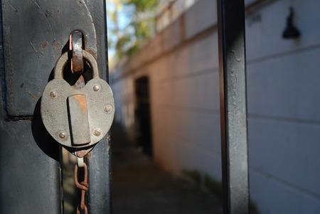 heart shaped lock on gate