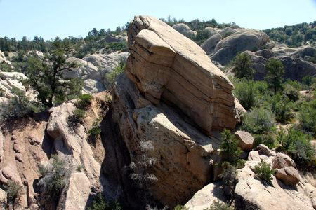 DEVILS PUNCHBOWL ROCK FORMATION