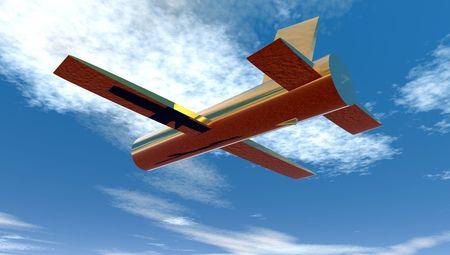 SOLID BRASS PLANE FLYING HIGH
