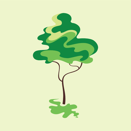 Card with stylized tree. Vector illustration Vector