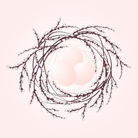 Decorative easter nest