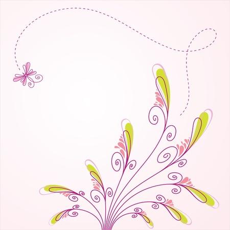 Fondo floral de vector, tarjetas de felicitación Ilustración de vector