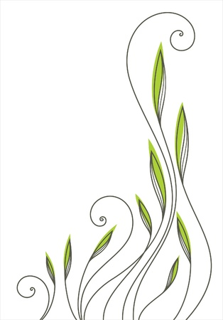 Vector floral pattern, greeting card