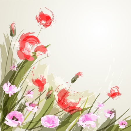 Flower background. EPS 10. Vector illustration.