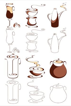 Coffee. Elements for design. Vector illustration Illustration