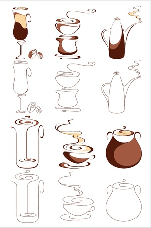 Coffee. Elements for design. Vector illustration Фото со стока - 9317621