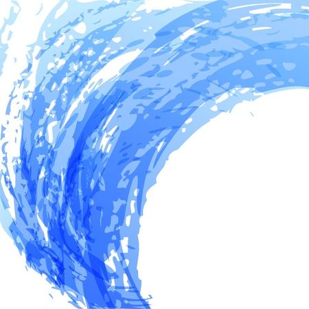 Blue brush background. EPS10