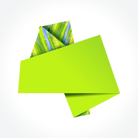 Abstrsct colorful origami speech bubble. EPS10 Stock Vector - 9592539