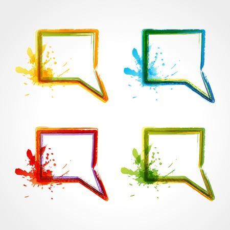 collection of colorful speech bubbles. EPS 10 Stock Vector - 9677885