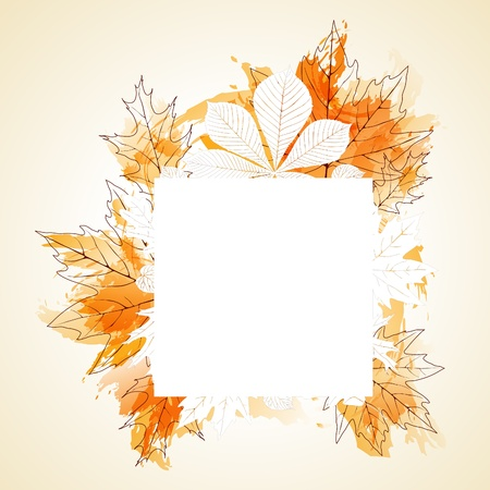 Autumn background with place for your tex Illustration
