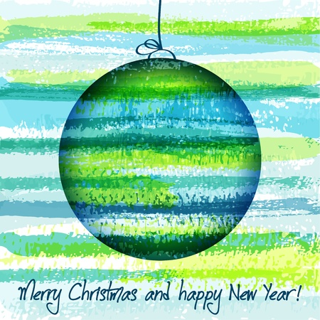 Abstract background with colour Christmas ball. EPS10