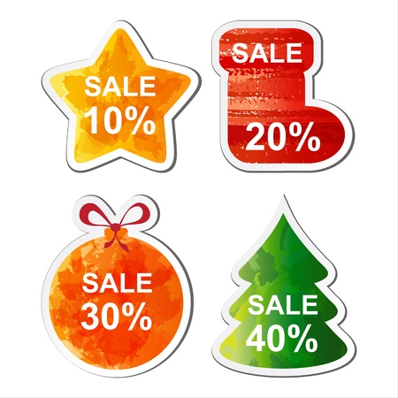 Colour Christmas sale set for you site. EPS10 Vector