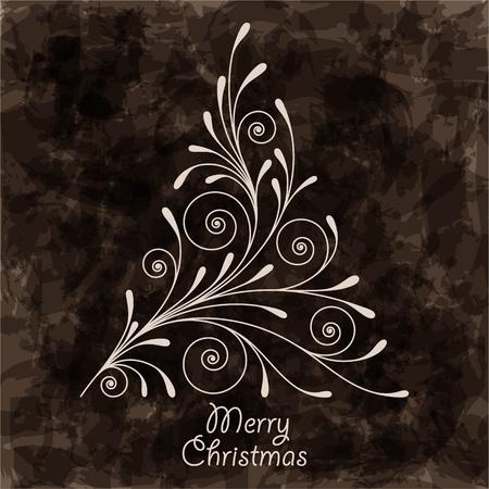 Elegant Christmas background with stylized christmas tree. EPS10