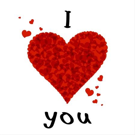 curare teneramente: Lettering testo elegante ti amo. EPS10