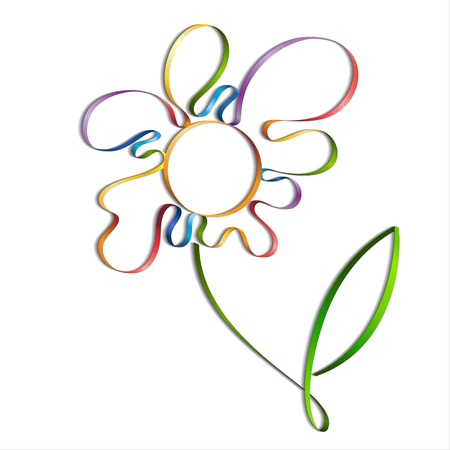 Abstract colorful flower on white background Stock Vector - 12931188