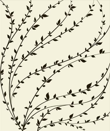Floral design  Stylized romantic pattern  Illustration