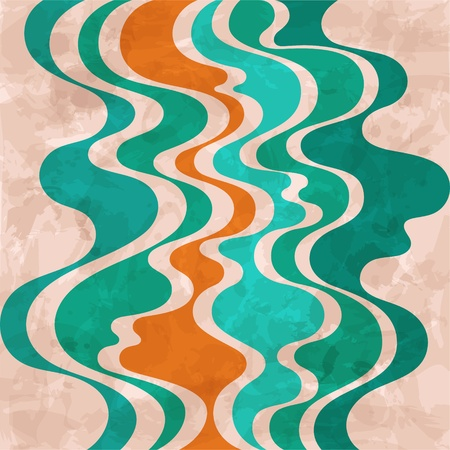 Abstract retro background  Colorful waves  Vector