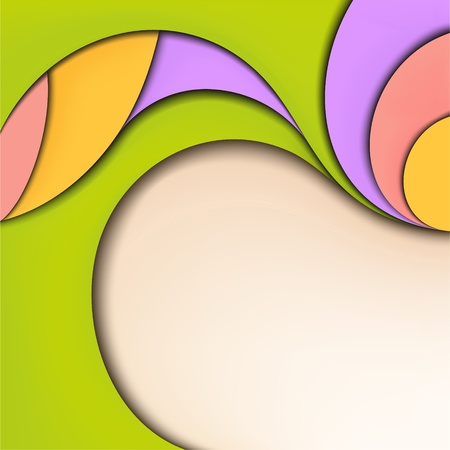 Abstract nature background  Summer and spring colors Vector