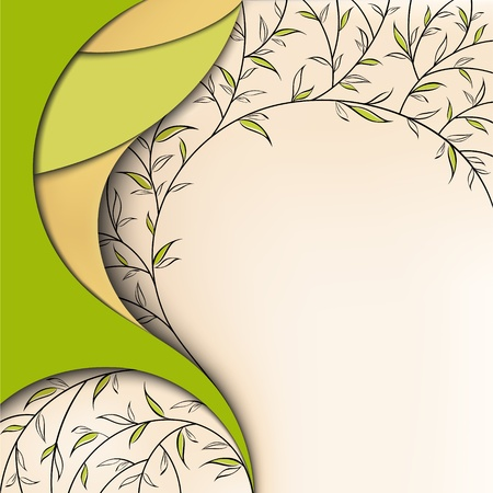 yellow pages: Abstract green nature floral background Illustration