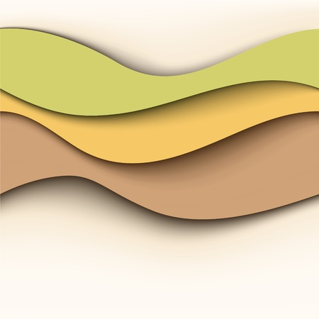 Abstract wavy background  Natural colors Vector