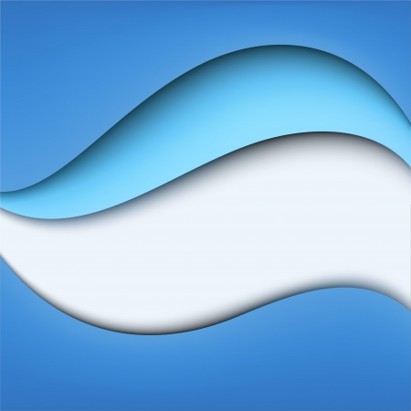 Blue wavy background  Marine design Vector