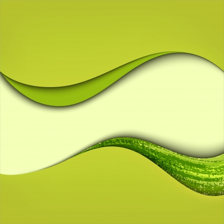 Green wavy background with place for text Vector
