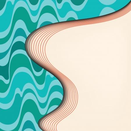 web page background color wavy flyer design