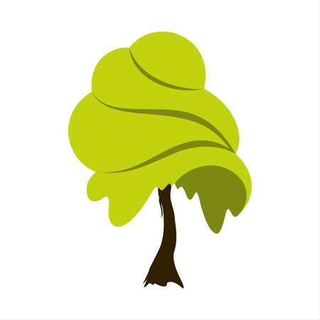 life style: Abstract summer tree emblem  Eco icon