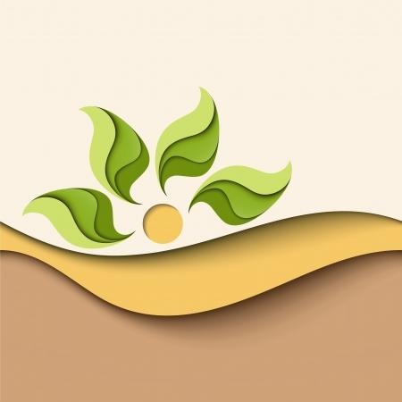 Abstract background in natürlichen Farben Eco-Konzept Standard-Bild - 14317270