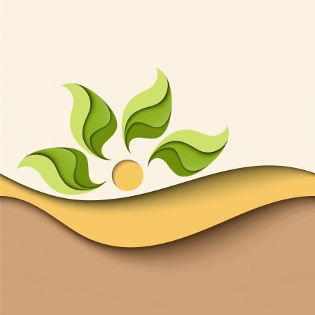 Abstract background in natural colors  Eco concept Illustration