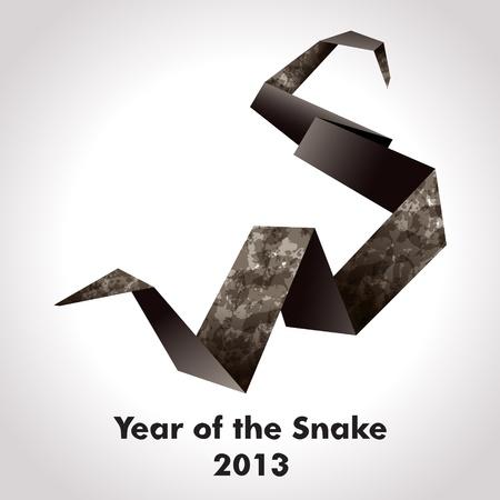 Jahr der Schlange Design Origami Standard-Bild - 14404755