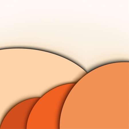 Abstract modern background  Orange colors  Speech bubble Stock Vector - 14981194