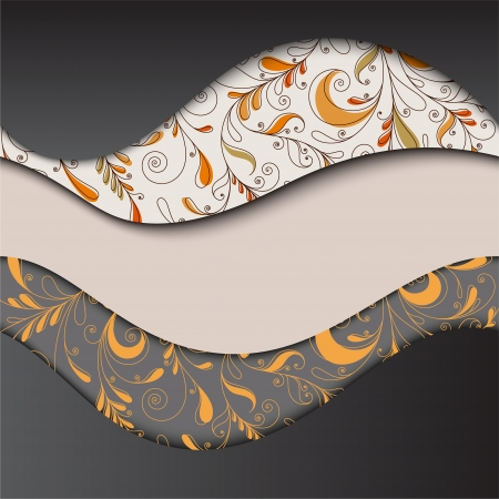 Abstract wavy background with patterned layers EPS10 Illustration