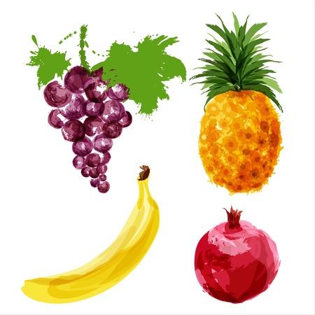 juicy ripe fruits