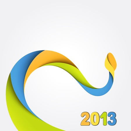 Background with colorful snake  2013 Vector