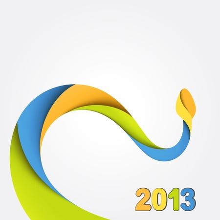 Hintergrund mit bunten Schlange 2013 Standard-Bild - 15935165