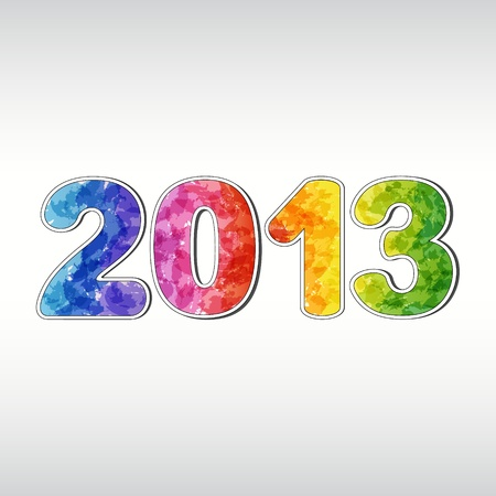 Colorful New year 2013 Stock Vector - 15935169