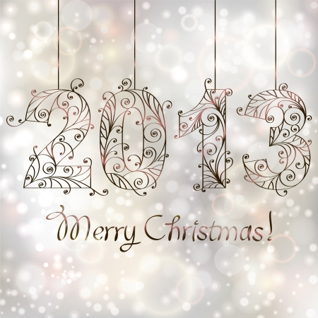 Christmas background  2013 Vector