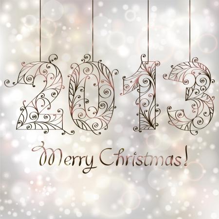 Christmas background  2013 Illustration