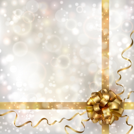 Abstract Christmas background with golden bow  EPS10