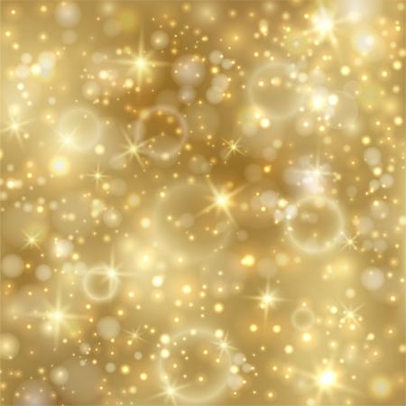 Goldener Hintergrund mit Sternen und funkelnden Lichtern EPS10 Standard-Bild - 16246697