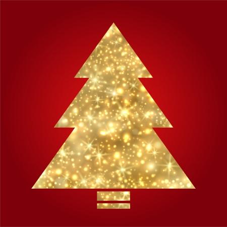 Golden Christmas tree Stock Vector - 16674487
