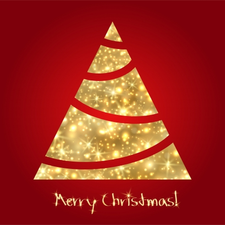 Golden Christmas tree  Sketch Stock Vector - 16674488
