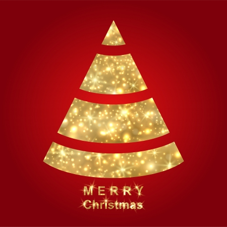 Abstract golden Christmas tree Stock Vector - 16674492