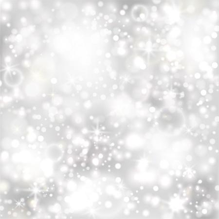 Silber Hintergrund mit Sternen und funkelnden Lichtern EPS10 Standard-Bild - 16915684