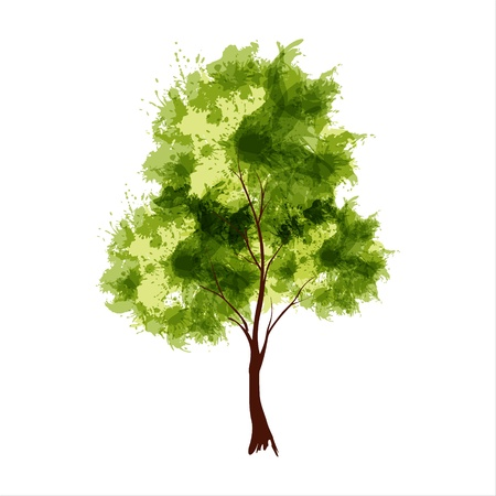 Vector illustration of stylized summer tree