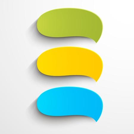 think green: Colorido abstracto burbujas de papel del habla